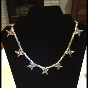 UNO de 50 retired Shuriken Ninja Star necklace